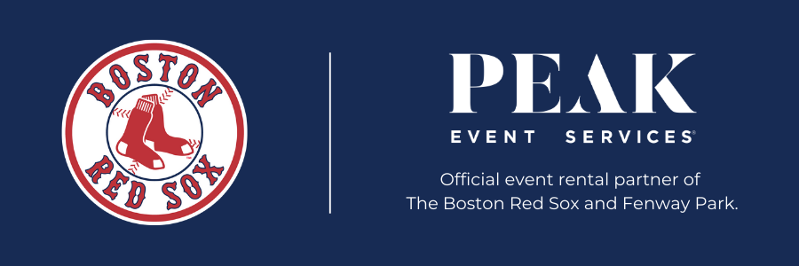 PEAK is proud to be the event rental partner for the Boston Red Sox